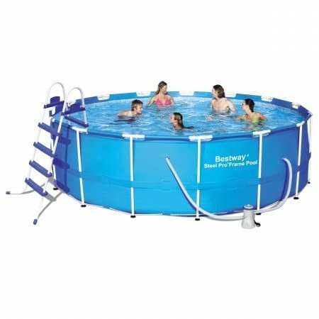 "Bestway 15-Foot by 48"" Steel Pro Round Frame Pool Set"